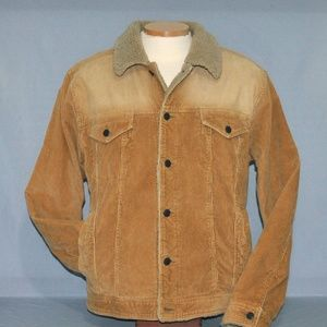 Aeropostale Corduroy Coat With Faux Sherpa Lining